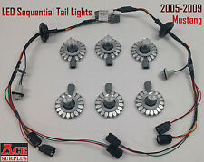 2005-2009 Mustang Sequential Tail Lights LED Harnesses & LED Bulbs Plug-and-Play