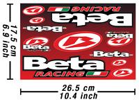 Beta Abziehbild Aufkleber Motorrad Vinyl Graphics Kit Autocollant laminiert /587