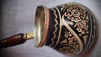 Handmade Copper Turkish Coffee Pot, Cezve,Silver Engraved, Wonderful  Xmas gift!