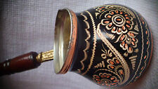 Handmade Copper Turkish Coffee Pot, Cezve,Silver Engraved, Wonderful  Xmas gift!