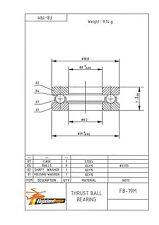 Axial pression camp F 8-19 M 8x19x7 mm inversion Ball Bearing f8-19m