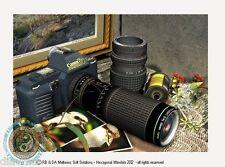 © ART - Original Still-life Illustration Retro Canon Camera Artist Print by Di
