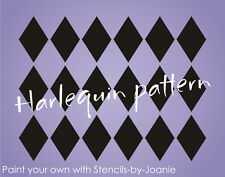 """Stencil 2.5"""" tall Harlequin Diamond Wall Art Shabby Cottage Chic Background sign"""