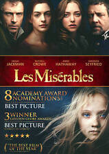 Les Misérables DVD Anne Hathaway Hugh Jackman Russell Crowe Brand New Sealed