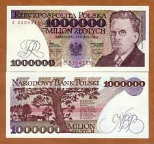 Poland, 1000000 (1,000,000) Zlotych, 1991, P-157, UNC