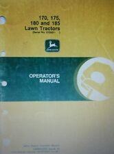 John Deere 170 175 180 185 Lawn Garden Tractor Operators Manuals) 80pg Riding