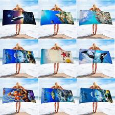Microfibra Toalla de playa Baño Grande Ligero Deportes Viaje Gimnasio Toallas De Verano