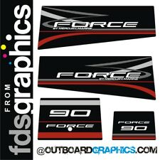 Mercury Force 90hp outboard decals/sticker kit