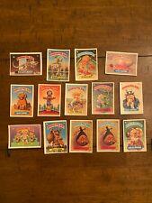 Lot of 14 Garbage Pail Kids Trading Cards - Original 1986 Vintage Series 3