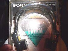 SONY RARE NEW VINTAGE HEADPHONE WALKMAN RADIO SRF-R5 A/M, FM SEALED