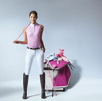 Ekkia Ladies Equi Theme Competition Show Polo Shirt Sleeveless Tailored Cut
