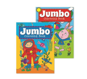 2 x A4 JUMBO CHILDREN'S COLOURING BOOKS Book Fun Pictures Learning 150 Pages