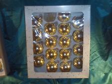 Konvolut 17 alte Christbaumkugeln Glas gold Weihnachtskugeln Christbaumschmuck