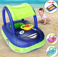 Baby Swim Ring Sunshade Safe Holiday Floating Summer Kids Seat Water Pool Toys