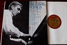 JOHN WUSTMAN ACCOMPANIMENTS TO BRAHMS SONGS LOW VOICE PIANO LP +SHEET MUSIC MMO