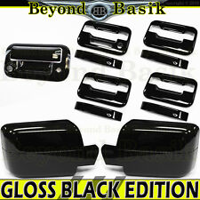 04-08 F150 Crew GLOSS BLACK Door Handle no PSK w/KP+Mirror Covers+Tailgate w/Cam