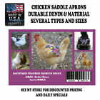 4 BANTAM Chicken Saddle Apron Hen Jacket Backyard Poultry Hen Feather Protection