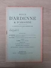 Revue d'Ardenne & d'Argonne 11/12 1907 N°1 & 2 RIMBAUD DELAHAYE BOURGUIGNON