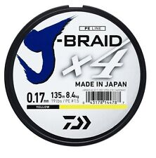 Daiwa J-Braid x4 Fishing Braid Dark Green/Yellow Japanese Line * 135m Spools *