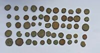 LOT OF 55 MIXED ROMAN AND BYZANTINE UNCLEANED BRONZE COINS III-X CENTURY AD