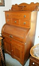 """Rare Old Antique 1880s """"The Queen"""" Spoon Carved Dough Board Cupboard Cabinet"""