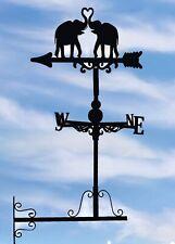 Wall mounted Weathervanes Floor standing Steel Love Elephant Weathervane Gifts