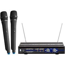 VOCOPRO UHF-3200 UHF-Dual Channel Wireless Microphone System