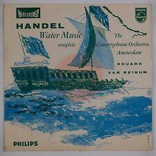 HANDEL: Water Music, Van Beinum PHILIPS Import HI-FI Stereo 1st Ed 835 004 lp