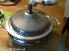 1779 Silver Plate  Serving Dish with pyrex casserole Bowl