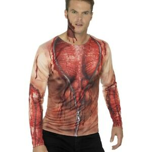 Digital Print T-Shirt blutiges Zombieshirt Halloween