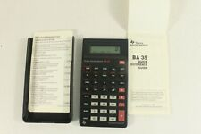 TEXAS INSTRUMENTS BA-35,vintage calculator,Italy. (ref D 096)