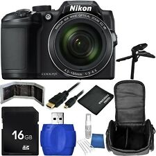 Nikon COOLPIX B500 Digital Camera (Black) Bundle with Accessory Kit (10 Items)