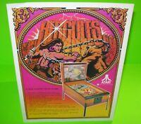 Hercules Pinball FLYER Atari Original 1979 Game Artwork Sheet Ready To Frame