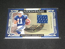 ANTHONY GONZALEZ COLTS FOOTBALL LEGEND SIGNED AUTOGRAPHED JERSEY CARD #3/50 RARE