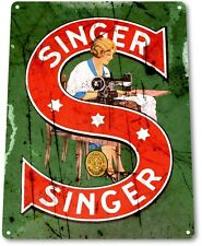 TIN SIGN: B247 Singer Sewing Machine Tin Metal Sign Retro Collectible Decor