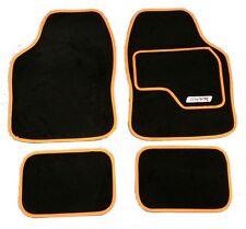 Full Noir tapis de sol voiture tapis avec orange boarder pour RENAULT CLIO MEGANE lag