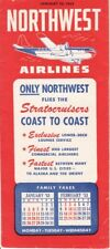 Northwest Orient Airlines timetable 1953/01/10