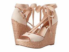 MICHAEL KORS LILAH Platform Wedge Sandals - NATURAL - Multiple Sizes