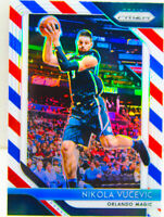 Nikola Vucevic 2018-19 Panini Prizm RWB Red White Blue Card #169 Orlando Magic