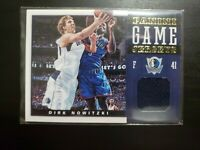 2012-13 Panini Game Jerseys Dirk Nowitzki Game Worn Jersey!