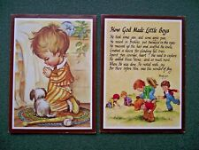 "2 Wendy Lyn ""How God Made Little Boys"" Plaques / Wall Hangings"