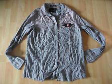MAISON SCOTCH coole kleinkarierte Bluse m. Perlenbesatz Gr. 2 NEUw. 816