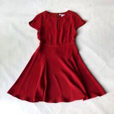 DVF Diane von Furstenberg red party work office dress US4 UK8