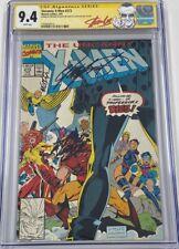 Uncanny X-Men #273 Jim Lee Cover Signed by Stan Lee & Michael Golden CGC 9.4 SS