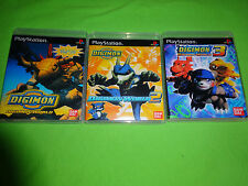 Empty Replacement Cases!   Digimon World 1 2 3 Trilogy Playstation PS1 PS2 PS3