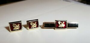 Moose Lodge Anson Cuff Links and Matching Tie Clip