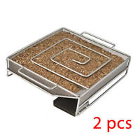 2pcs BBQ Cold Smoker Generator Stainless steel Grill Smoke Box Cooking Tool NEW