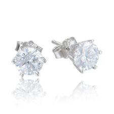 White Raindrop Custome Zircon Earrings - Stud Earrings - Bridal Earrings