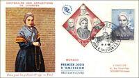 CENTENAIRE DES APPARITIONS DE LOURDES - MONACO - 1958 - FDC
