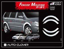 Autoclover Chrome Fender Garnish Molding 4p for 08/2006 ~ 11/2014 KIA Carnival
